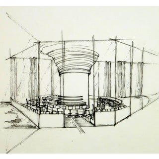 Architectural Drawing of Bar For Sale