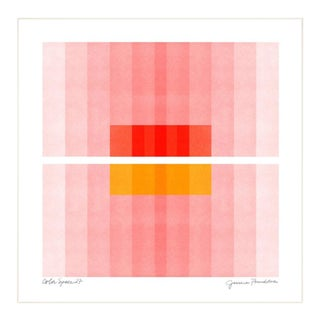"""""""Color Space 27"""" Contemporary Minimalist Geometric Print by Jessica Poundstone, Framed For Sale"""