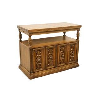 Late 20th Century Vintage Lane Furniture Spanish Revival Flip Top Server Sideboard For Sale