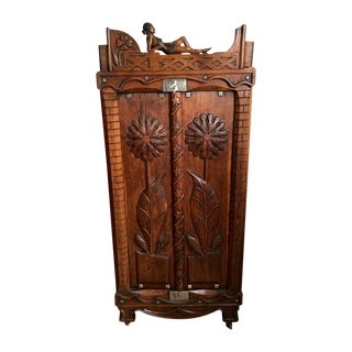 Brazilian Hand Carved Two Door Cabinet