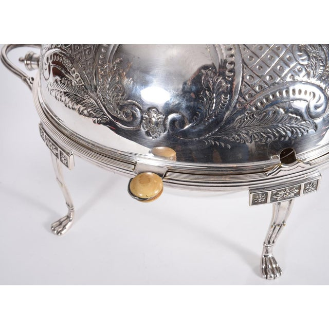 Silver Vintage English Silver Plate Footed Tableware Server . For Sale - Image 8 of 9