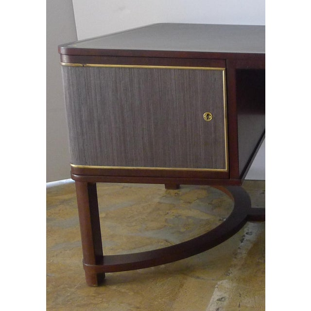 Restored Expansive Modern French Art Deco Executive Desk - Image 8 of 13