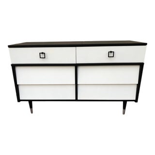 Mid-Century Modern Two Toned Dresser by Harmony House With Custom Hardware For Sale