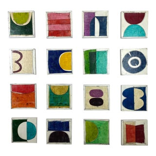 """Encaustic Collage Installation by Gina Cochran """"Flirting"""" For Sale"""