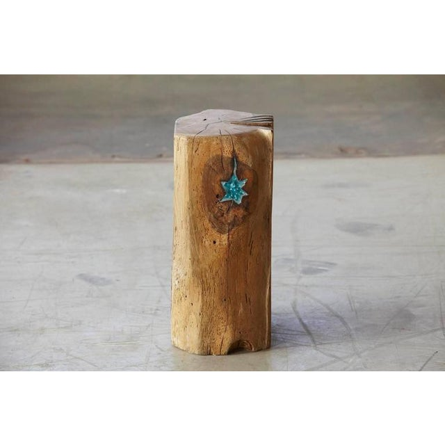 Stern - Star. A stool made from a solid piece of oak by German artist Hanni Dietrich. All wood used by the artist is from...