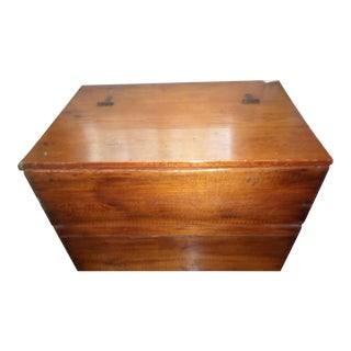 Antique Early American Primitive Southern Pine Chest For Sale