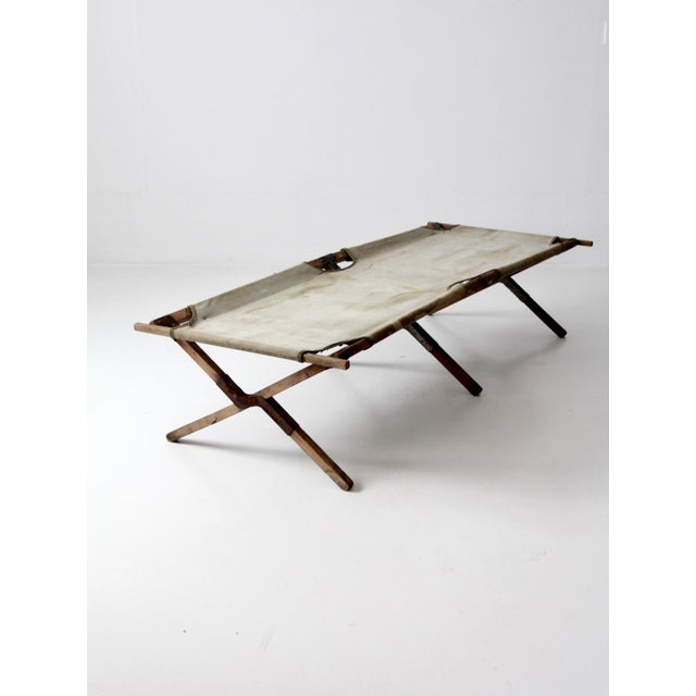 Vintage 1940s Army Cot For Sale - Image 12 of 12