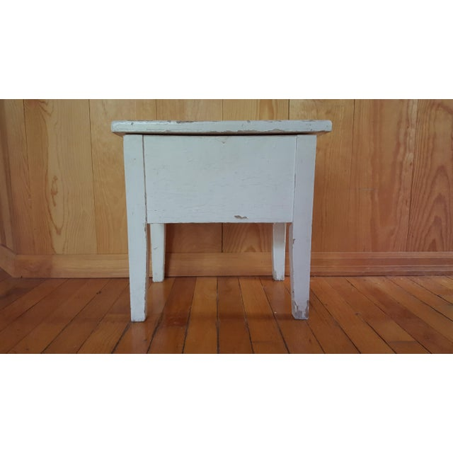 Shabby Chic Wooden Stool - Image 2 of 7