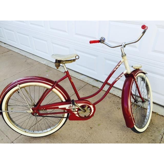 Burgundy, White 1950's Columbia Built Cruiser Bike - Image 3 of 10