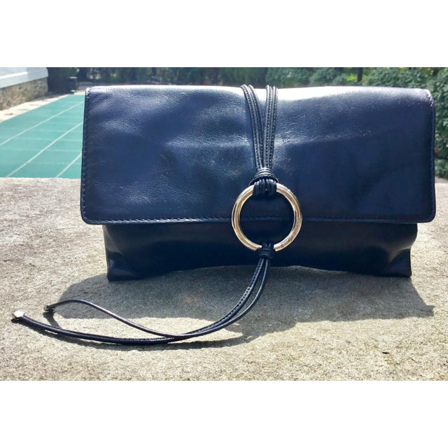 Dolce & Gabbana Black Calfskin Clutch For Sale In New York - Image 6 of 6