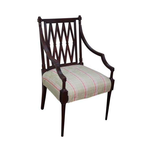 Beacon Hill Solid Mahogany Regency Style Arm Chair - Image 1 of 10