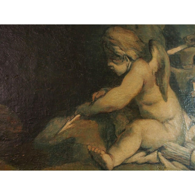 White 19th Century Italian Painting of Putti For Sale - Image 8 of 9