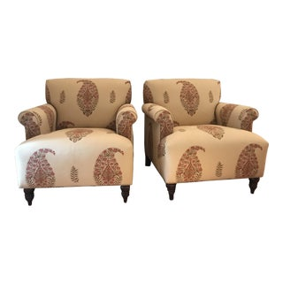 Lee Jofa Moroccan Occasional Chairs - a Pair