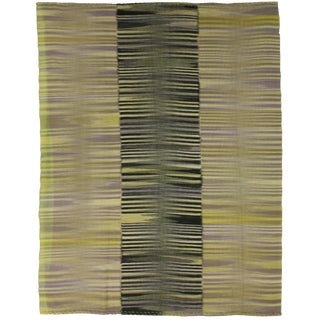 """Hand Knotted Patchwork Kilim - 8'4"""" x 6'10"""" For Sale"""