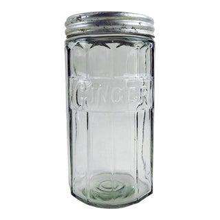 Antique Glass Hoosier Ginger Jar For Sale