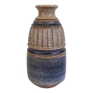 Vintage Midcentury Brutalist Pottery Vase For Sale