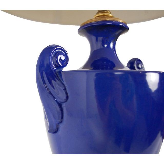 Cobalt Blue Sèvres-Style Lamp - Image 5 of 10
