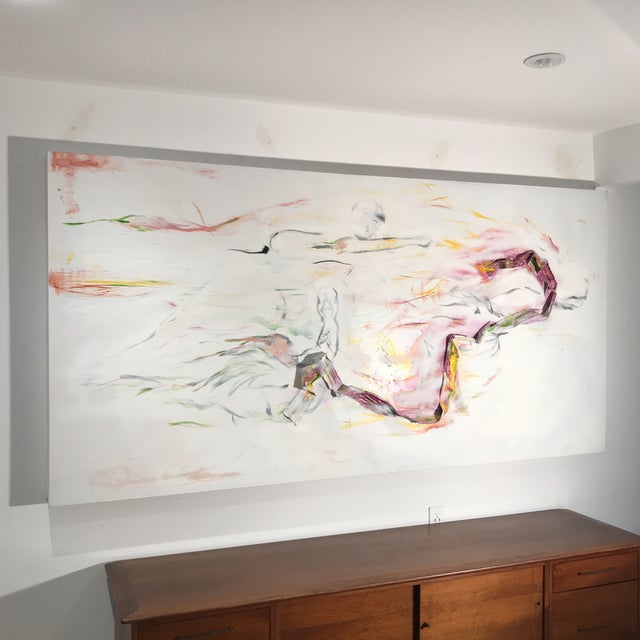 Abstract Abstract Multi-Media Acrylic Painting For Sale - Image 3 of 10