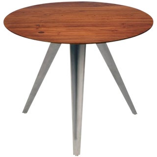 AKMD Collection Mango Wood and Metal Dart Table For Sale