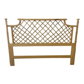 Vintage Ficks Reed Rattan Queen Headboard For Sale
