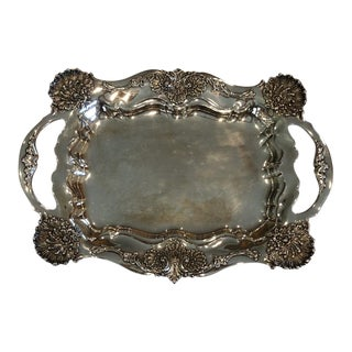 Late 19th Century Antique Tiffany Sterling Silver Tray For Sale