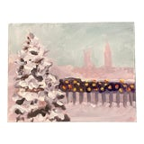 Image of Original Contemporary Impressionist Winter Landscape Painting For Sale