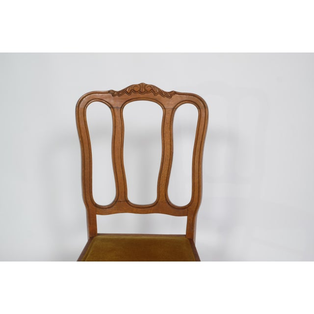 Set of 6 Louis XV Dining Chairs With Gold Upholstery For Sale In Nashville - Image 6 of 12