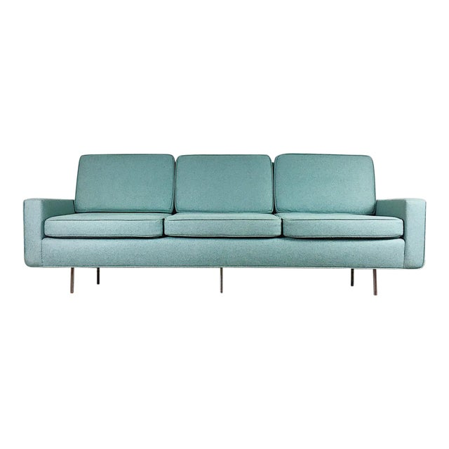 Blue Florence Knoll Sofa For Sale