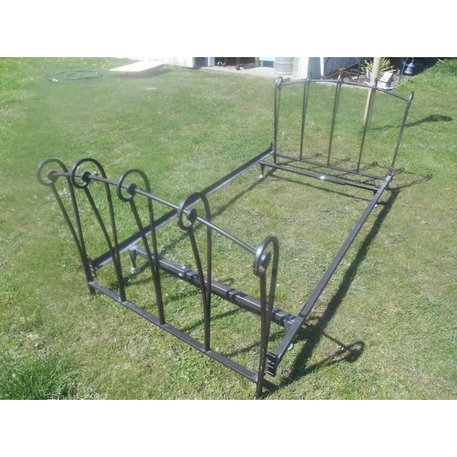 Wrought Iron Sleigh Twin Bed Frame - Image 6 of 10