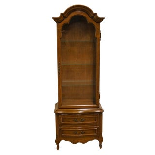 Late 20th Century Vintage Mount Airy French Regency Style Display Cabinet
