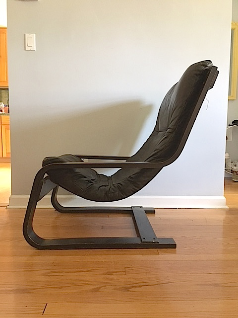 Modern Gerard Van Den Berg Leather Sling Chair For Sale   Image 3 Of 11