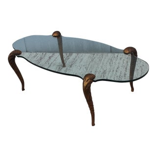 P.E. Guerin Style Gilt Bronze Coffee Table For Sale