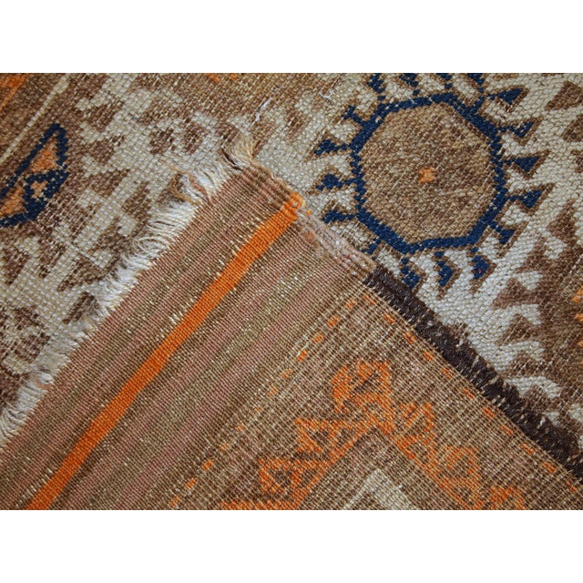 1890s Hand Made Antique Afghan Baluch Rug - 2′1″ × 3′9″ - Image 8 of 10