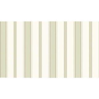 Cole & Son Cambridge Str Wallpaper Roll - Olive & Wht For Sale