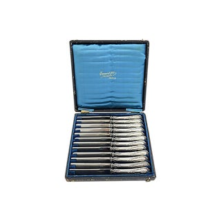 French Sterling Dinner Knives, S/12 For Sale