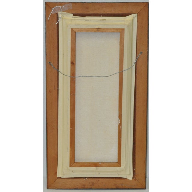 1960's Ulatto Mid Modern Abstract Painting For Sale - Image 4 of 5