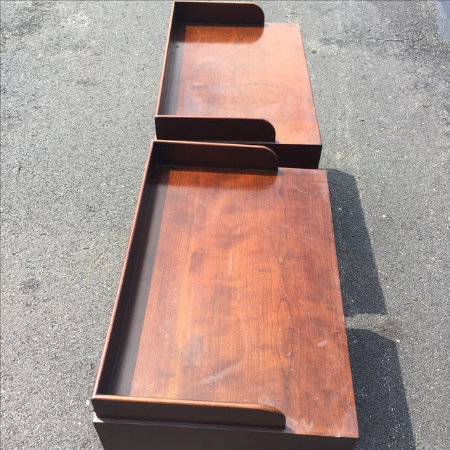 Directional Mid-Century Nightstands - A Pair - Image 7 of 11