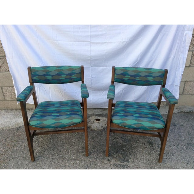 Royal Blue 1960s Mid-Century Chairs - a Pair For Sale - Image 8 of 8