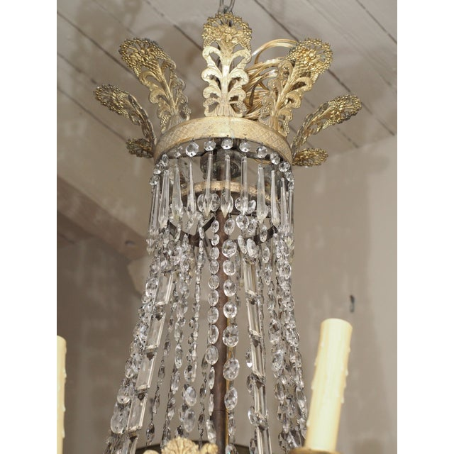 19th Century Empire Crystal Chadelier - Image 4 of 9