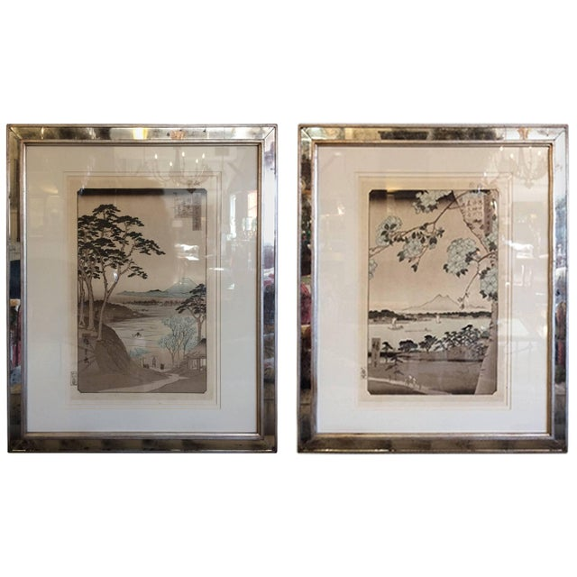 Asian Framed Prints From Trowbridge - a Pair For Sale - Image 9 of 9