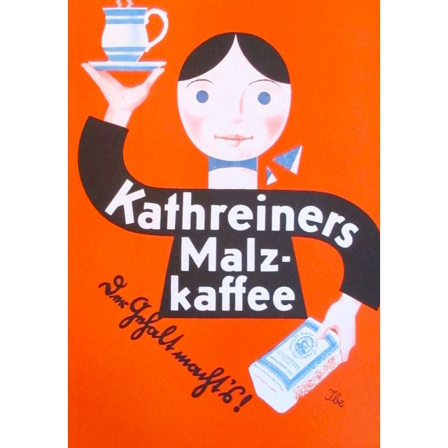 Original 1927 Lithographic Mini Poster of Kaffee - Image 4 of 4