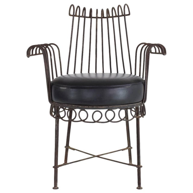 French Mid-Century Cap d'Ail Chair by Mathieu Matégot, 1950's For Sale - Image 11 of 11