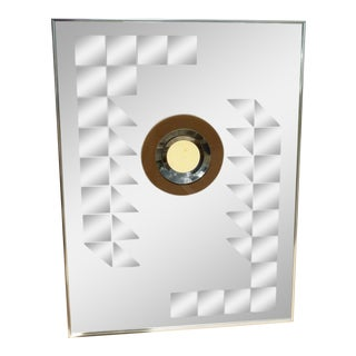 1970s Vintage Hal Bienenfeld Disco Era 3-D Op Art Mirror For Sale
