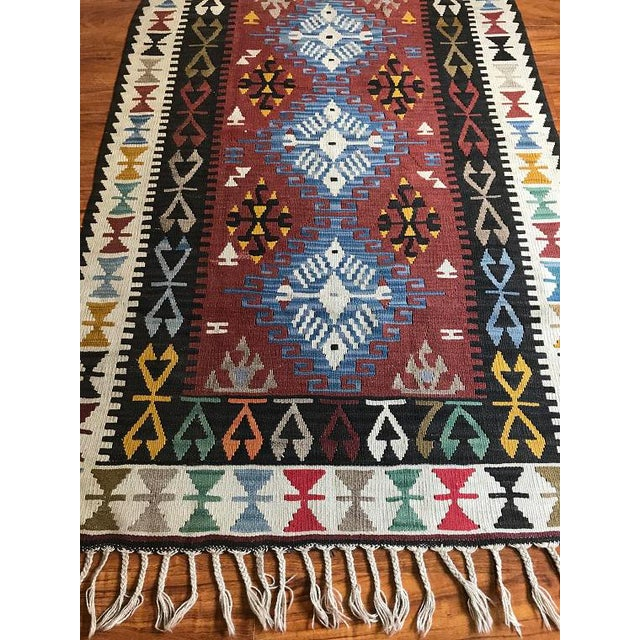 "Islamic Vintage Anatolian Kilim - 5'8"" X 3'7"" For Sale - Image 3 of 9"