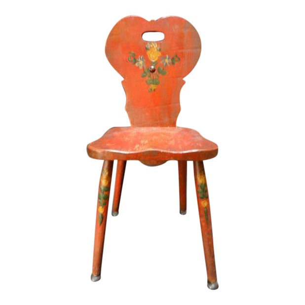 Monterey Classic Red Keyhole Chair - Image 1 of 8