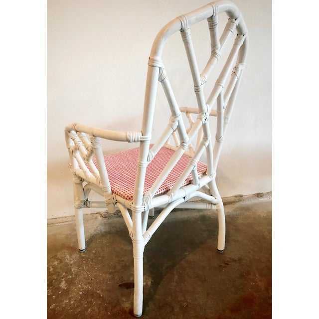 Wood 1960s Chippendale Rattan Chairs- Set of 6 For Sale - Image 7 of 10
