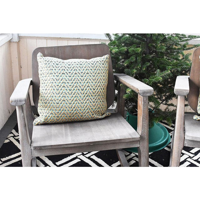 Modern Gray Wooden Rocking Chair For Sale - Image 10 of 10