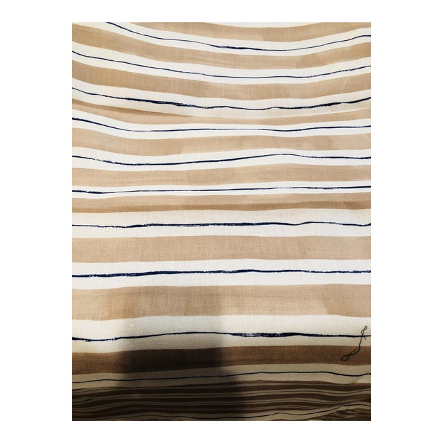 Rebecca Atwood Painterly Stripe Fabric For Sale