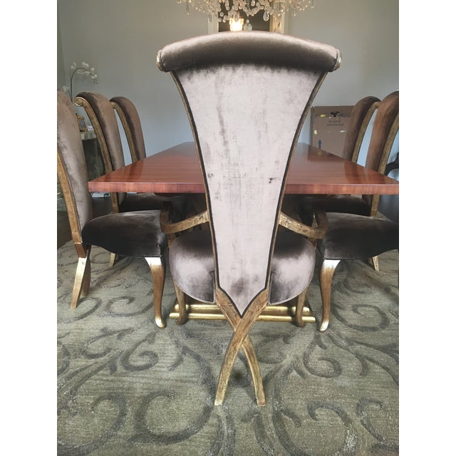 Christopher Guy Brown Velvet Eva Dining Chair - Image 4 of 5