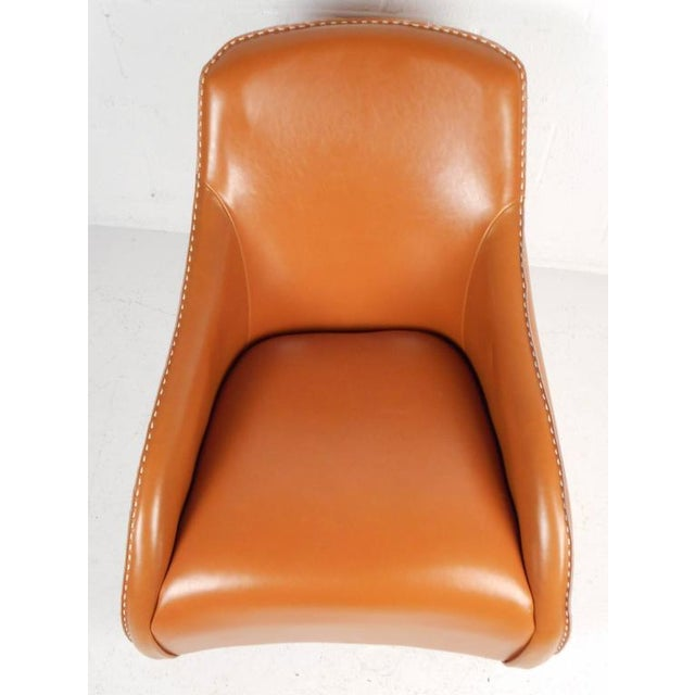 Contemporary Modern Leather Rocking Chair - Image 6 of 8